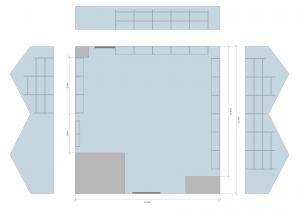 Pallet racking layout